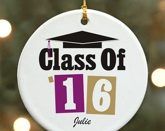 Personalized Graduation Ornament - Personalized with Name & Graduation Year