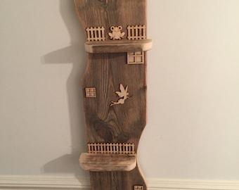 Unique Bespoke Driftwood & Up Cycled Timber Shelf Unit/Fairy House Nautical, Shabby Chic