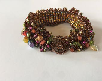 Beaded Caterpillar Bracelet