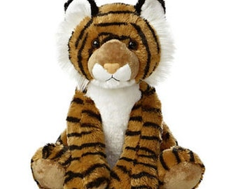 Personalized Keepsake  Tiger, Stuffed Animals Birth Announcement