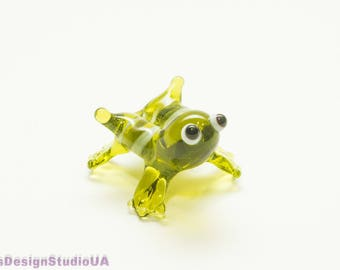 Glass Frog figurine Glass Figurines frog Blown glass animals  Murano glass sculpture Glass Miniature Gift for lovers Gift for mom