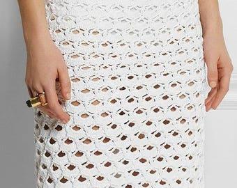Crocheted skirt - Made to order