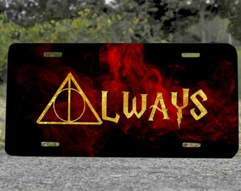 Always Harry Potter Metal License Plate Gift