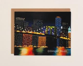 New York City Night Light Greeting Card