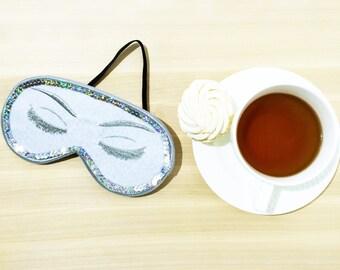 Shiny Audrey Hepburn Sleep Mask, Breakfast at Tiffanys Eye Mask, Holly Golightly Sleep Mask, Handmade Night Mask with Embroidery
