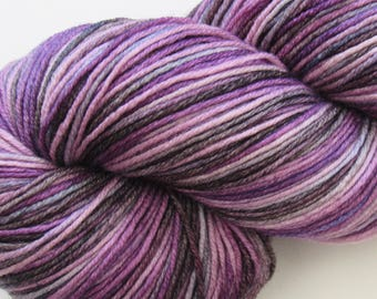 SALE Purple Vortex 4ply 100g Hand Dyed Merino Yarn Knitting Wool