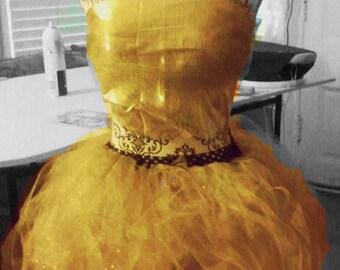 Golden fairytale or golden egg tutu outfit