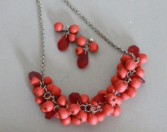 SALE Rowan Berry Set Necklace Earrings from Polymer Clay