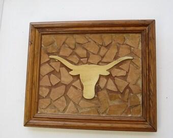 UT Longhorn Tile Art Picture