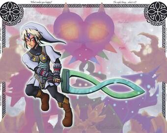 Fierce Deity Link art print-11x14in-Legend of Zelda: Majora's Mask