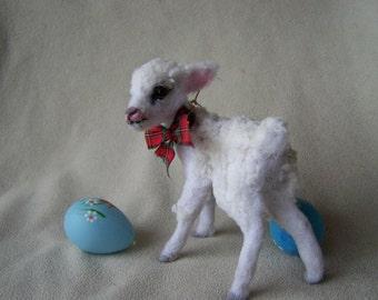 Ooak Miniature Lamb Baby by Malga