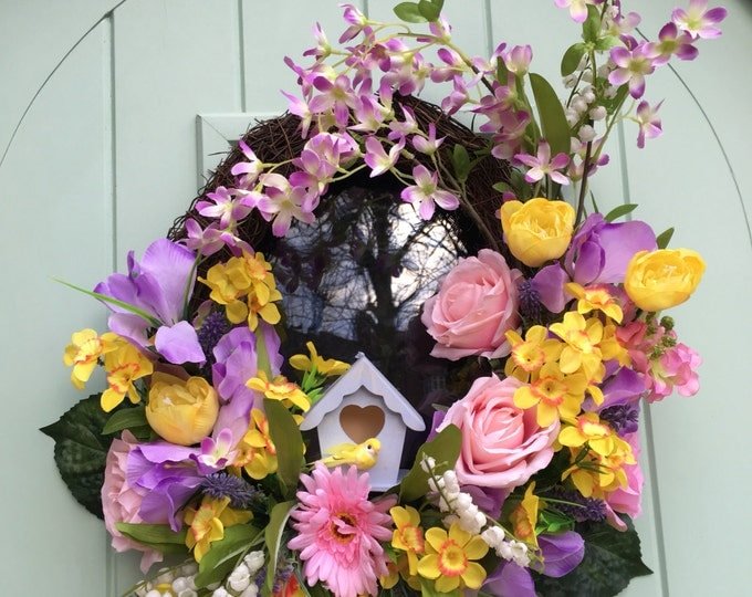 Beautiful spring or easter wreath