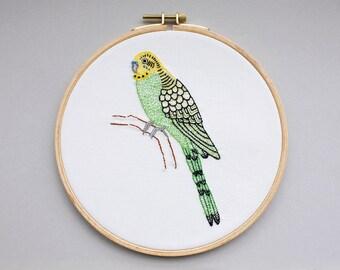 Bird image - Budgie in the hoop