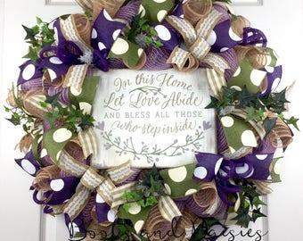 Summer Mesh Wreath / Spring Mesh Wreath / Welcome Mesh Wreath / Summer Wreath / Spring Wreath / Front Door Wreath / Front Door Mesh Wreath