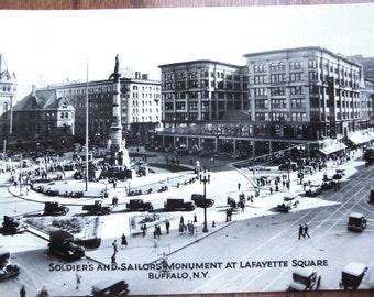 Rare Near Mint c.1915 RPPC Buffalo, New York, Soldiers & Sailors MONUMENT at Lafayette Square