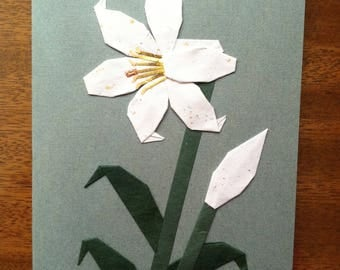 Handmade Origami Lily Card