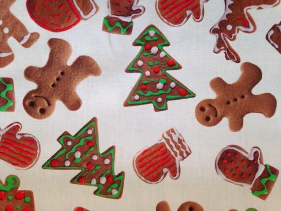 SALE - Gingerbread Festive Fabric