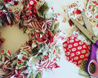 Green & Red Floral Wreath