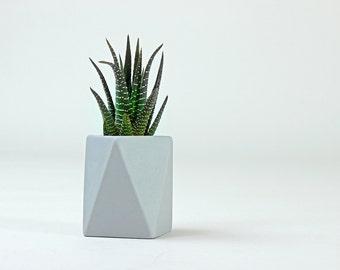 Square Geometric Ceramic Pot