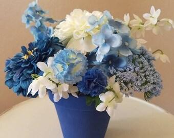 Dark Blue Flower Arrangement