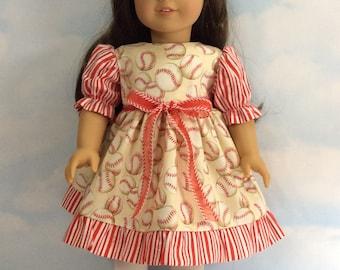 """Fancy baseball dress for 18"""" dolls"""