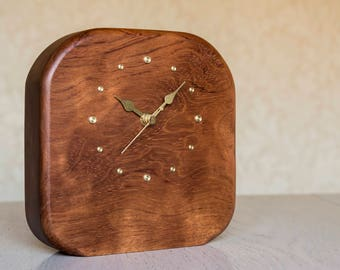 Wooden clock, a unique desk clock