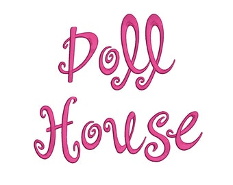 3 Size Doll house Font Embroidery Fonts BX Instant Download 9 Formats Embroidery Pattern Machine BX Embroidery Fonts PES
