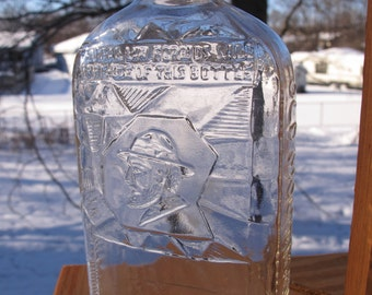Vintage 1937 Old Mountaineer Whiskey bottle