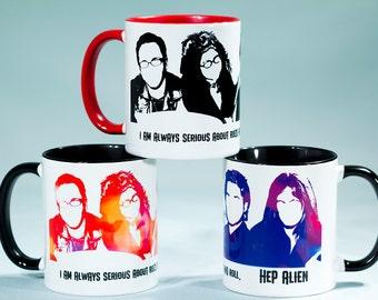 RTS Hep Alien, 11 oz Coffee Mug, Gilmore girls - READY to SHIP
