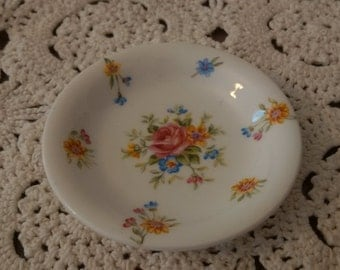 Royal Grafton vintage fine bone china floral dish pin sweet butter trinkets rings