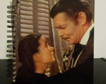 "Recycled vinyl album cover notebook - ""Gone With the Wind!"""