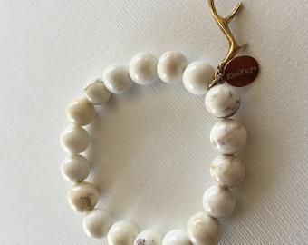 Cream Howlite Antler Charm Bracelet