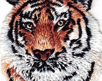 IRON ON PATCH tiger head