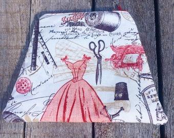 Clutch purse, fabric bag, Australian purse