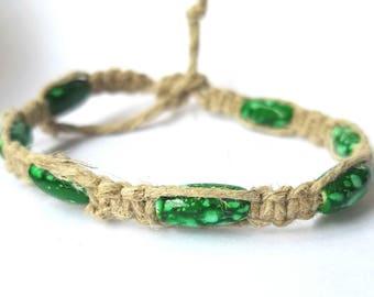 hemp anklet, hemp jewelry, teen girl gifts, hippie jewelry, boho jewelry, beach anklets, summer anklets, rope anklets, Macrame jewelry