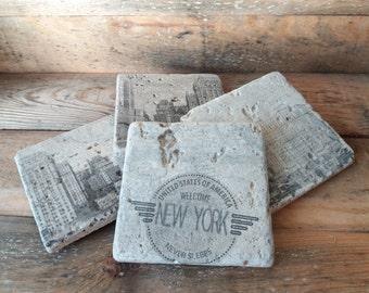 Natural Stone Coasters(,New York New York)