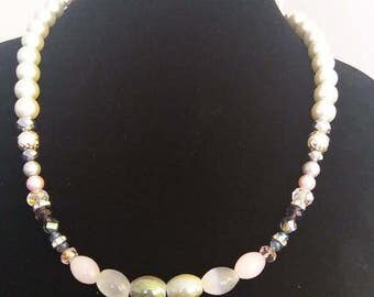 Pearls and green set