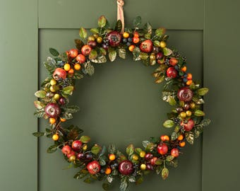 Fruit DoorWreath - Fruit and Berry Wreath - Door Wreath