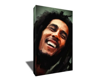 FREE SHIPPING Bob Marley One Love Portrait Canvas Art