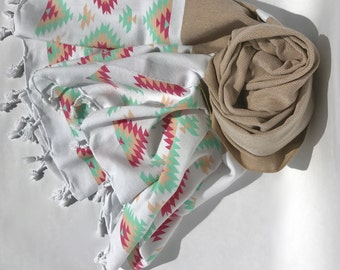 100%Cotton Turkish Towel, Beach Towel, Peshtemal, Bath Towel, Turkish Beach Towel, Turkish Bath Towel, Pestemal, Hammam Towel, Towel, Fouta