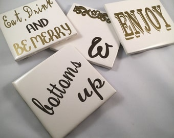 Personalized Coasters 4x4
