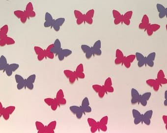 Pink and Purple Butterfly Confetti - Pink and Purple Girl Birthday Party Decorations - Butterfly Decorations - Butterfly Party Decorations