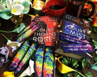 Sarah J Maas Bookmarks - Throne of Glass and A Court of Mist and Fury ACOTAR ACOMAF Court of Thorns and Roses Rhysand Feyre Celaena Aelin