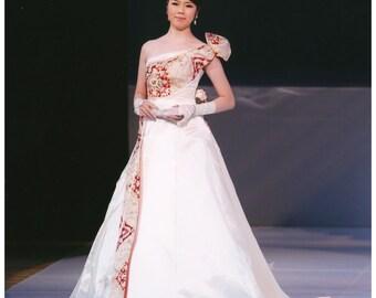 Obi Kimono Dress Wedding Dress, Bridal Dress (15-02006)