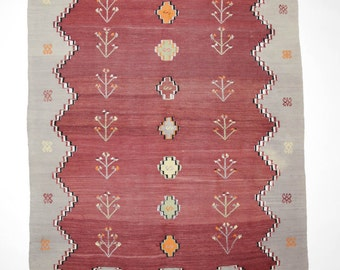 Vintage Kilim from the region of Çanakkale. Hand-woven. Wool. 230 x 150cm. Shipping from Germany.