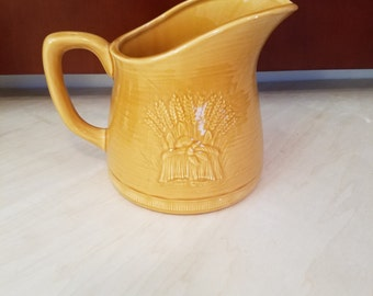 Gladding, McBean & Co - Franciscan Golden Brown Wheat Water Pitcher