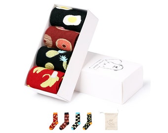 Sock Gift Box for Men - 4 Pairs - Funky Sweet and Savoury
