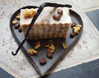 Walnut Vanilla Coffee Soap