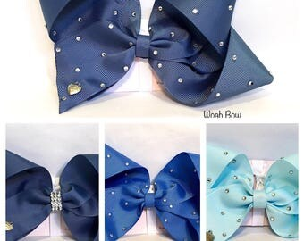 Large Hair Bows - Choice of Blue colours - similar Style To Jojo bows.