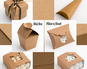 Rustic Kraft Country Style Wedding and Party Favour Boxes in 10 packs